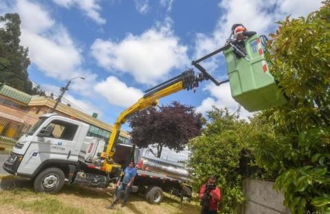 Concepción suma nueva maquinaria para prevención de incendios